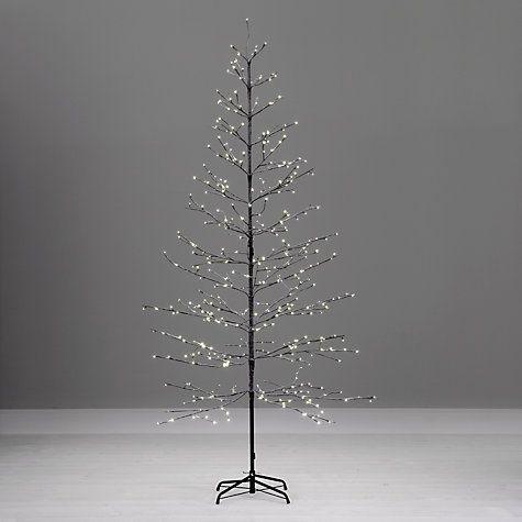 Buy John Lewis Pre-Lit Snowy Twig Christmas Tree, White, 8ft Online at johnlewis.com