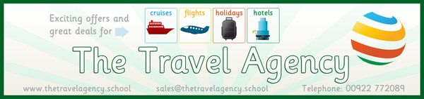 Role Play Travel Agency Poster...Decorative printable travel agency poster / sign. Ideal for your school role play scenarios.