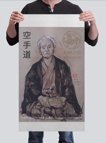 Kakemono Dojo Gichin FUNAKOSHI