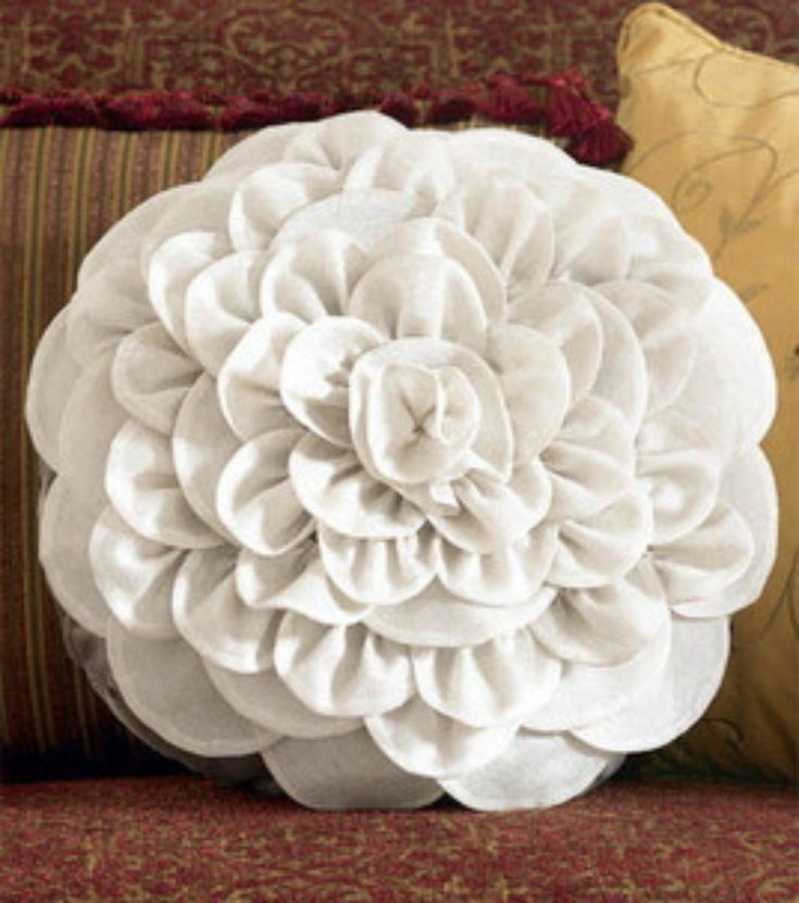 DIY Pillows DIY Flower Pillows DIY Pillows Pinterest Pillows and Flower