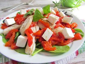 Салат из курицы и шпината, рецепт с фото. Готовим куриный салат со шпинатом и сладким перцем.