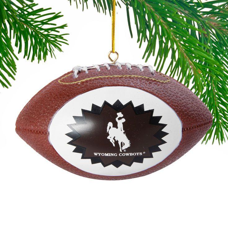 Wyoming Cowboys Replica Football Ornament  - - $6.99