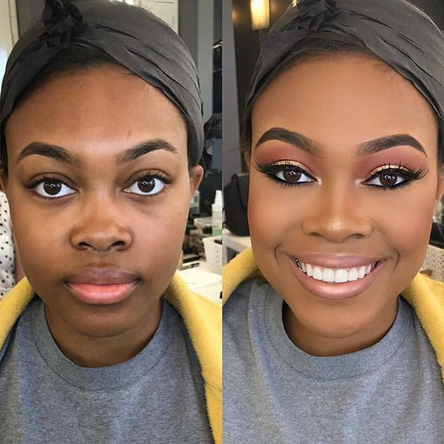 How do you like your nude face beat, with glossy lips or matte lips? Comment below⬇👇👇 Makeup by @theresafrancine on beautiful @mverna2107!…