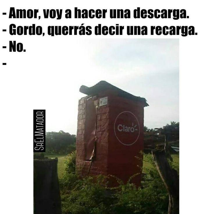 Una cora de recarga ya sea con papel o sin papel.  #Recarga #telefono #letrina #Baño #claro #SrElMatador #ElSalvador #SV