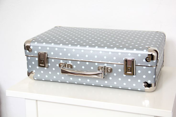 Silver suitcase with dots by #Kazeto