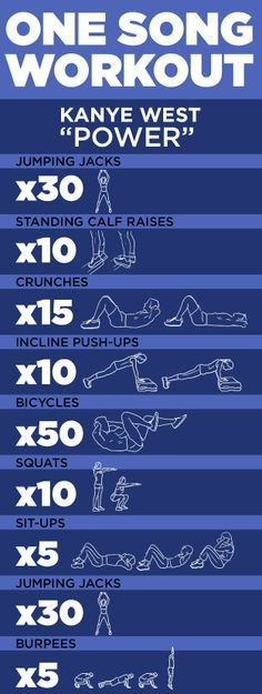 """one song #workout! """"Power"""" by Kanye West #exercise #fitness"""