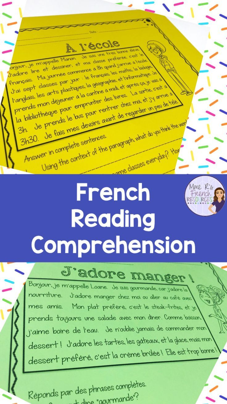 French Reading Comprehension Strategies French Teaching Resources Teaching Reading Comprehension Reading Comprehension Strategies Free printable french reading