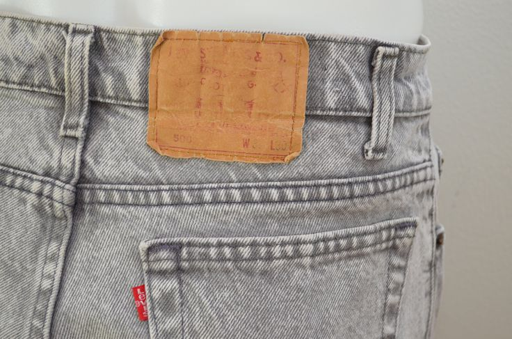 on sale Vintage LEVI'S 506 w33 l30 Made In USA red tab 80's denim acid wash jeans GREY by ilovevintagestuff on Etsy