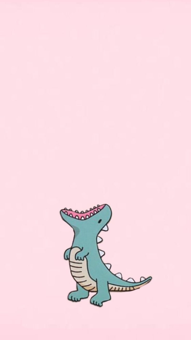 Dinosaur wallpaper, pink and cute #iphonewallpaper ...