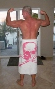 Customer, David Ferguson, loves our towels...and we love them on him!