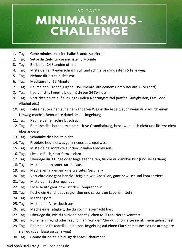 Minimalismus Challenge – 30 Tage Leichtigkeit für das, was wirklich zählt