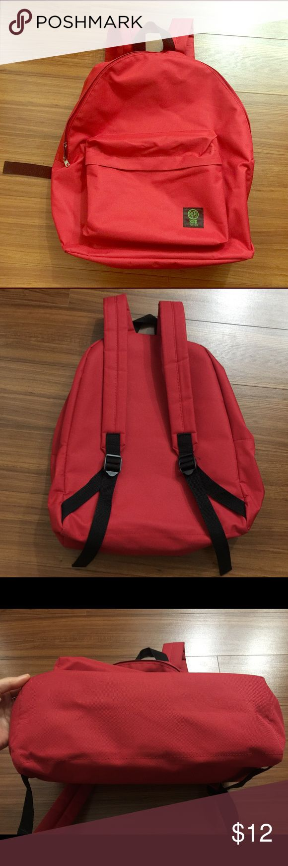 Red backpack 🎒 Red backpack 🎒 got it as a gift, used it very clean. very light, everyday backpack! see pictures!! Bags Backpacks