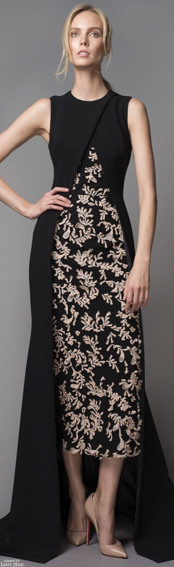 Bibhu Mohapatra Resort 2016 black maxi dress women fashion outfit clothing style apparel @roressclothes closet ideas