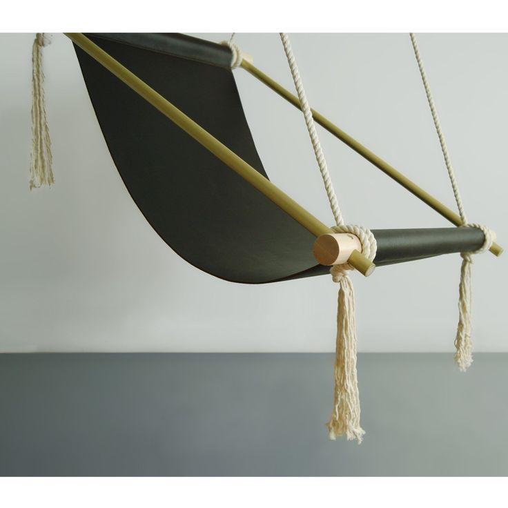 Ovis Hanging Chair by Ladies & Gentleman - Brass details!!!!!!!!!!!!!!!!
