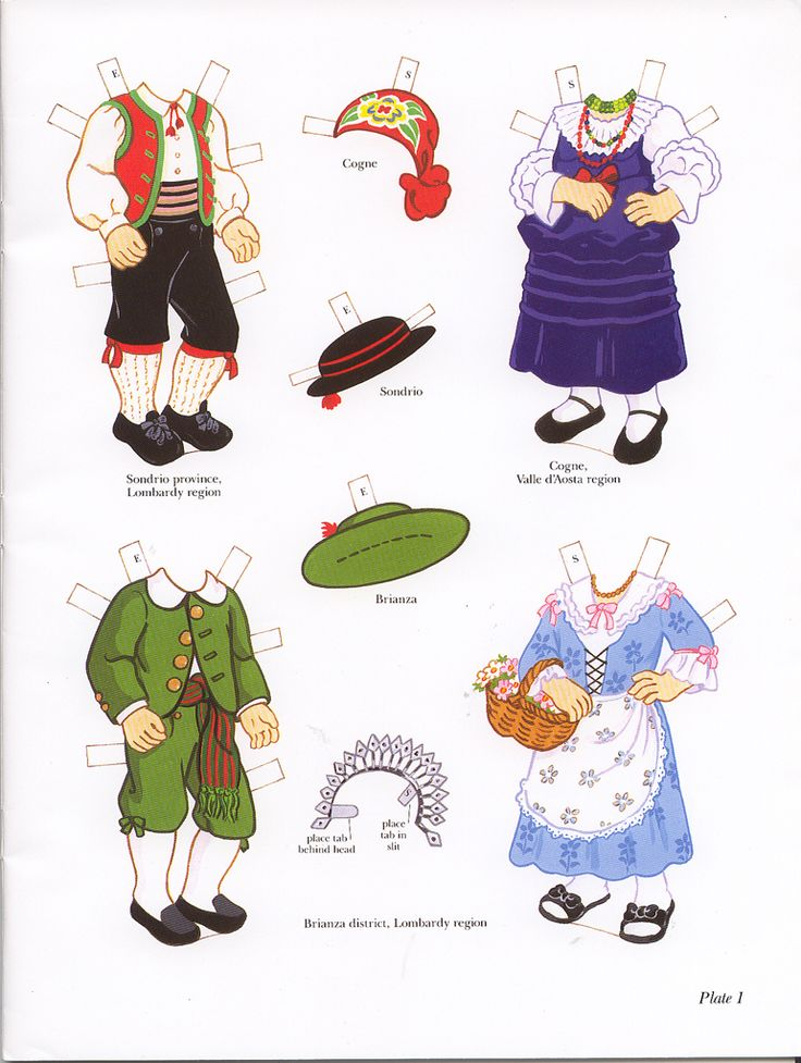 Italian Girl and Boy clothes page 1