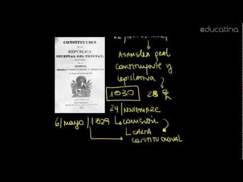 (106) Uruguay: 1830 - Jura a la Constitución - Fechas patrias - Educatina - YouTube