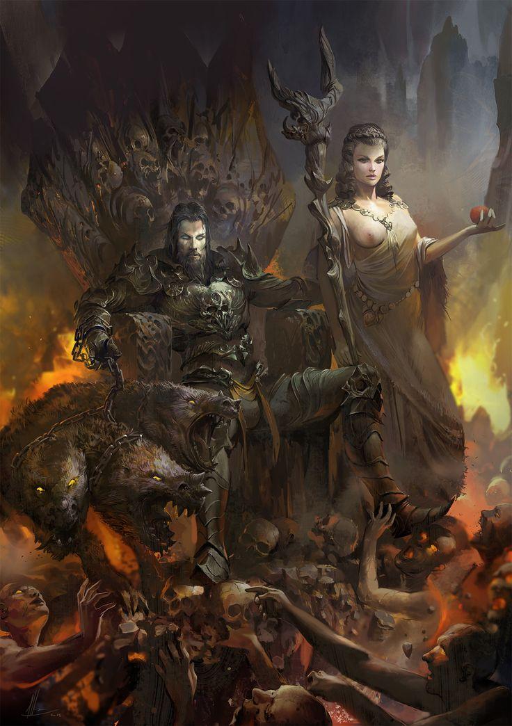 Hades y su esposa Persefone