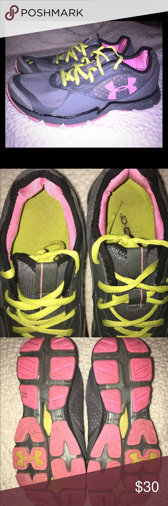 Under Armour Tennis Shoes Gently used tennis shoes! No stains but will wash them before I send them out!💕 Under Armour Shoes Athletic Shoes