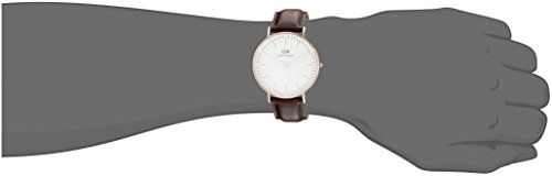 cool Daniel Wellington Bristol Rose Men's Quartz Watch with White Dial Analogue Display and Brown Leather Strap 0109DW