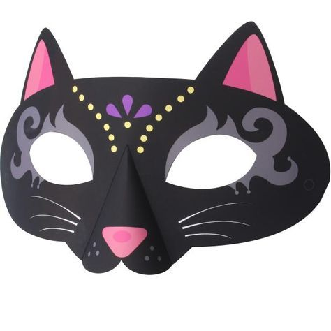 FREE DIY PDF printable print and cut Mask Cat,Event,Paper Craft