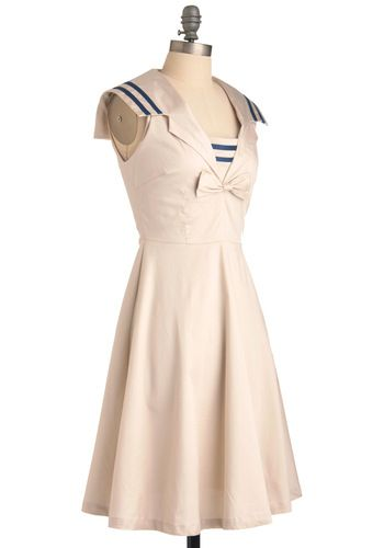 Sailor: Sailors Dresses, Paper Moon, Retro Vintage Dresses, Dresses Modclothcom, Sailors Collars, Modcloth Com, The Moon, Cool Dresses, Moon Dresses