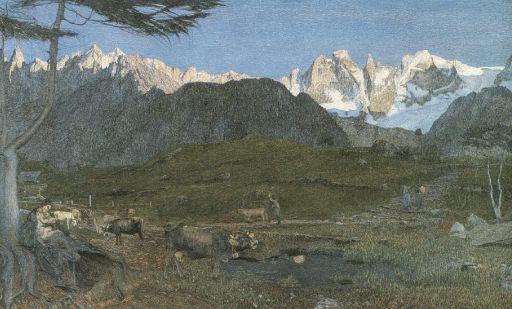 Giovanni Segantini, LA VITA, 1898, Carboncino e matita dura su carta, cm 137x108, Winterthur, Stiftung fuer Kunst, Kultur und Geschichte