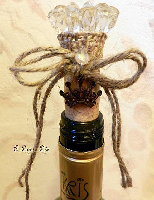 Sweet home made gifts...for your friends that drink wine...;-)