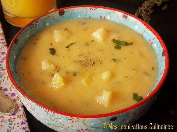 Soupe pomme de terre-poireaux