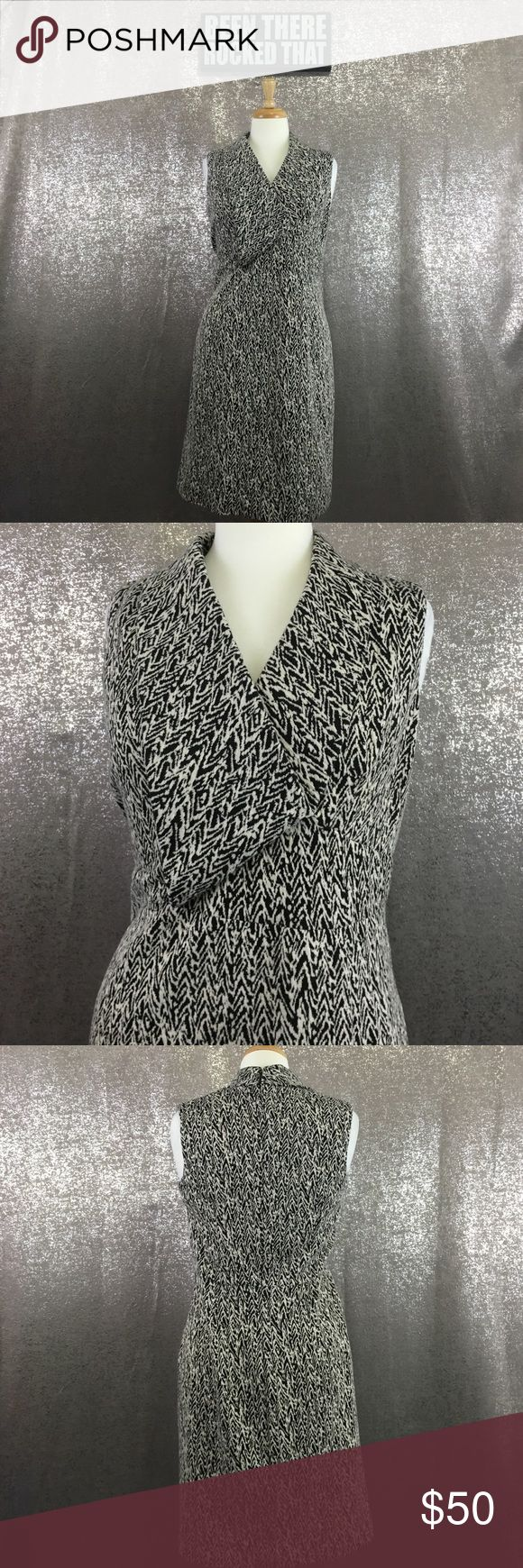 Calvin Klein abstract knot wear to work dress In excellent
