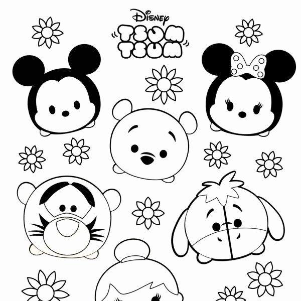 32 Tsum Tsum Coloring Page Di 2020 Buku Mewarnai Seni Boneka Jari