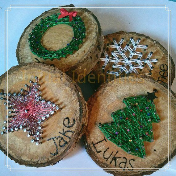 Ähnliche Titel wie Ordering String Art Christmas Tree Ornaments on Et … #WoodWorking – wood projects