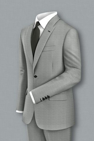 """This """"very"""" light grey is the perfect summer suit. Play it up with the lighter hues of purple and pink for the ultimate summer business look. Also perfect for destination weddings for those that need something light, but can't stand linen."""