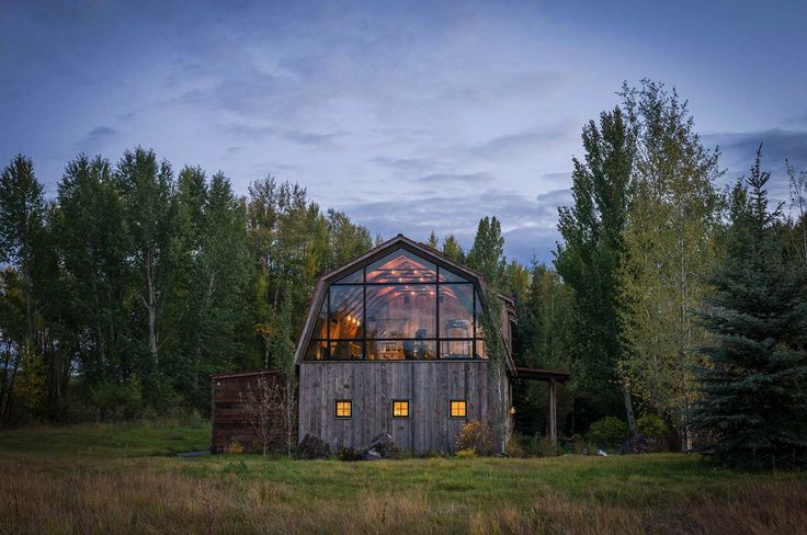 Rustic meets modern in stunning barn guest house in for Barn guest house plans