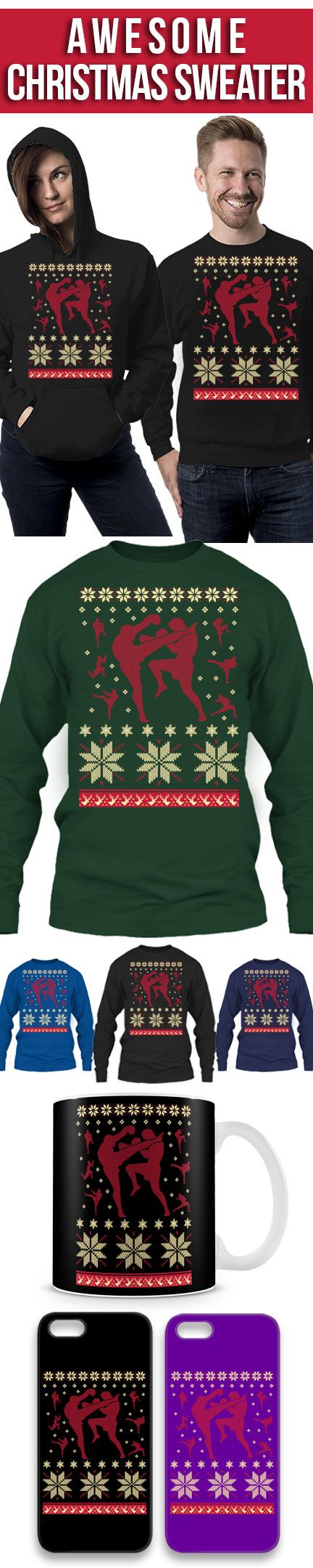 Muay Thai Ugly Christmas Sweater! Click The Image To Buy It Now or Tag Someone You Want To Buy This For. muaythai