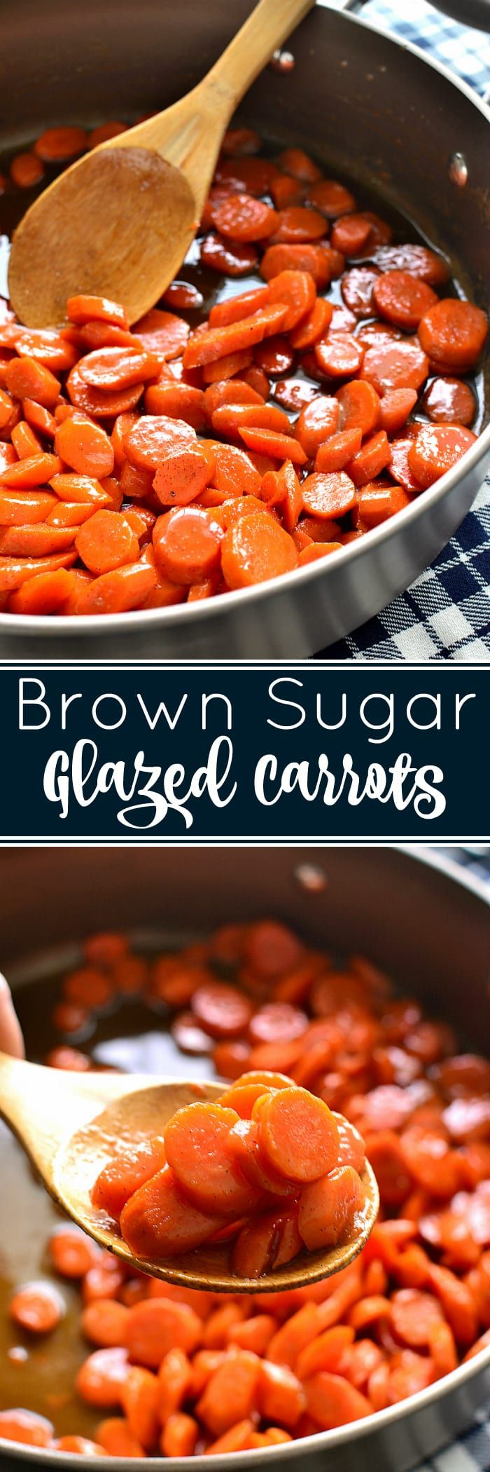 These Brown Sugar-Glazed Carrots take carrots to a whole new level! Made with just 4 delicious ingredients, they come together quickly and make the perfect holiday side dish!