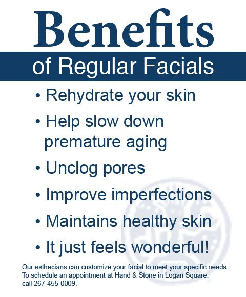 Benefits of Facials. Skincare to meet your specific needs. https://carolwroble.myrandf.biz/