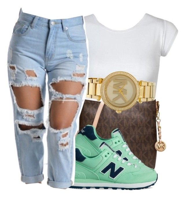 """"""""""" by eazybreezy305 on Polyvore featuring Michael Kors, New Balance, SimpleOutfits and 2016"""