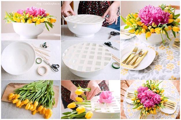 Tips voor bloemschikken  Heb jij de 'lente kriebels' en wil je het voorjaar in huis halen? Wij hebben een leuke tip.  Wat je hiervoor nodig heb is een bos voorjaarsbloeiers, een schaal, plakband en schaar.Het is simpel te maken en in minder dan 10 minuten staat er een mooi bloemstuk op tafel.  Je kunt deze vorm van bloemschikken natuurlijk met heel veel verschillende bloemen doen, zo zou je de tulpen kunnen vervangen door witte of rode rozen.