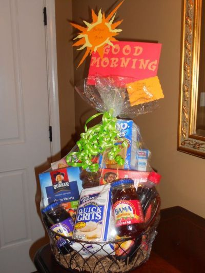 Stock the pantry bridal shower gift idea.  See more bridal shower gift ideas at www.one-stop-party-ideas.com