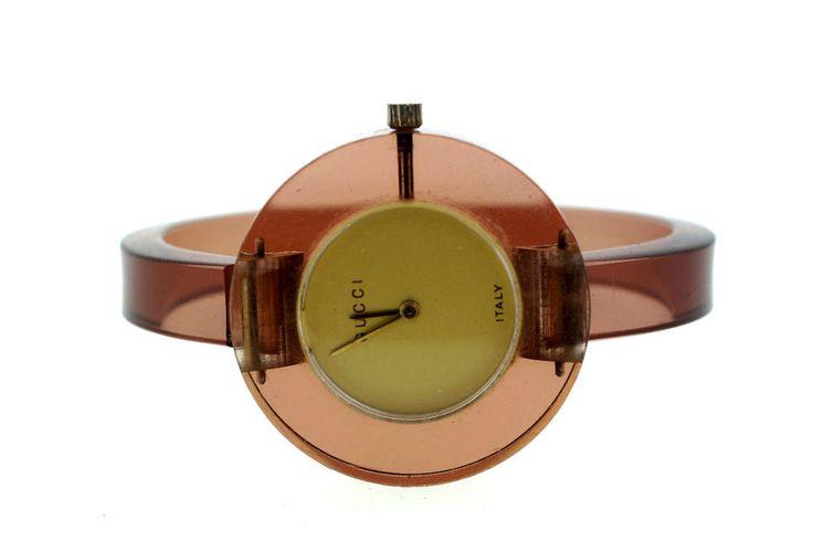 GUCCI WATCH VINTAGE C.1970 BAKELITE BRACELET STYLISH  #Gucci #Casual #vintage #1970s #bakelite #bracelet #stylish
