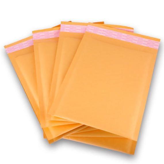 50 Pcs 4x8 Orange Bubble Wrap Mailers Padded Mailing Envelope Bags Lightweight