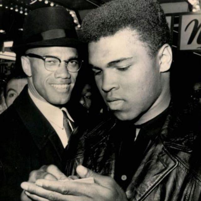 Malcom X & Muhammad Ali