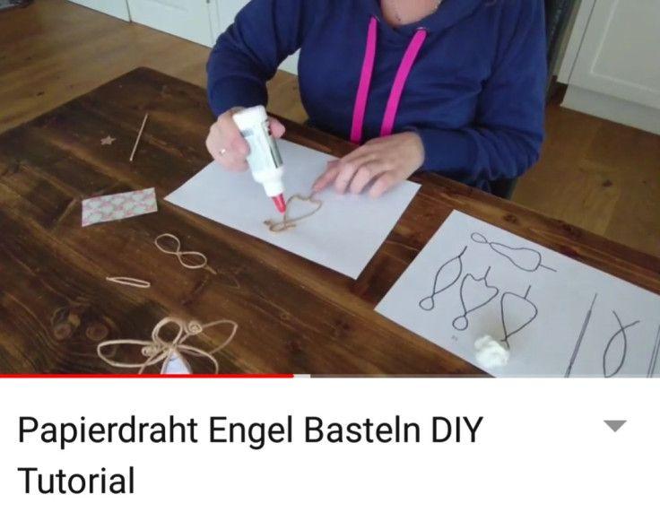 Papierdraht Engel Selber Basteln Mit Vorlage Frau Praktisch In 2020 Selber Basteln Engel Basteln Basteln