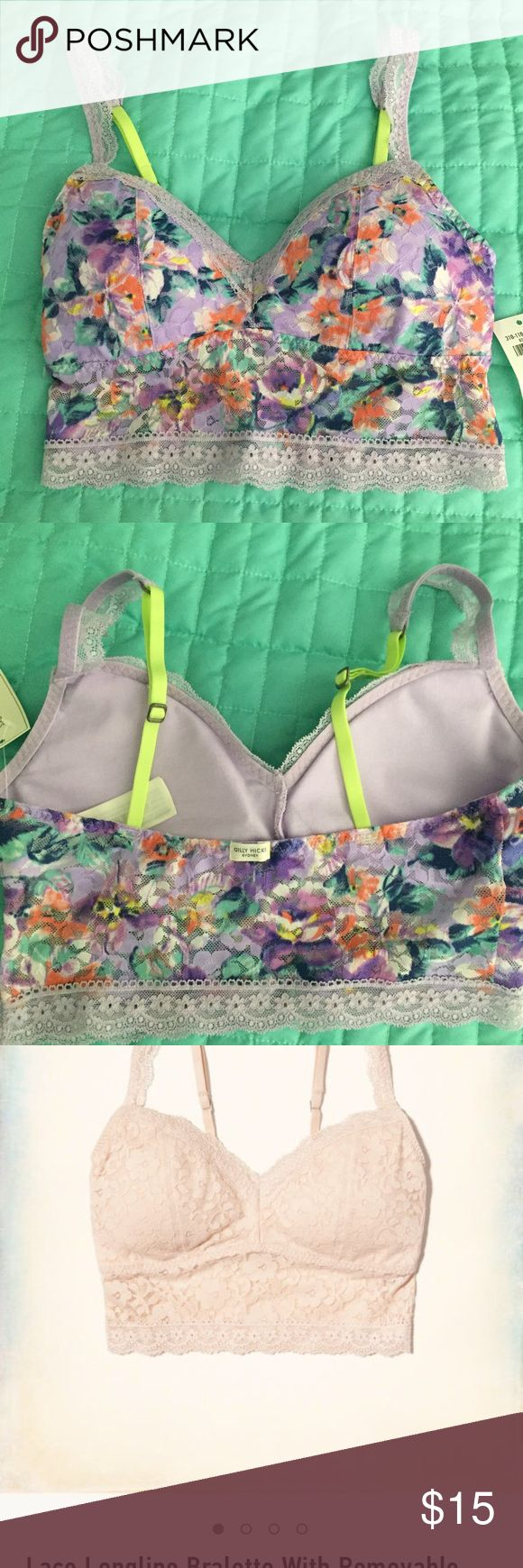 Gilly Hicks bralette•NWT Size SMALL. So pretty! Gilly Hicks longline bralette. Adjustable straps. Gives nice coverage and push up. Could fit from A-B cup. Gilly Hicks Intimates & Sleepwear Bras