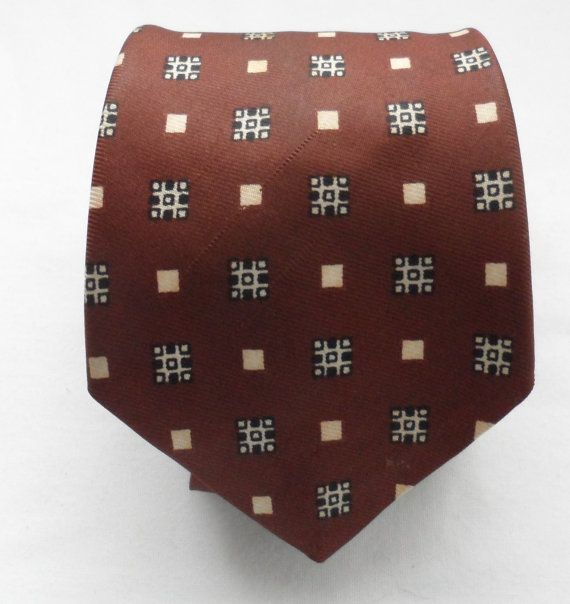 Vintage 1970s Silky Polyester Tie/Milk Chocolate by socialtyes