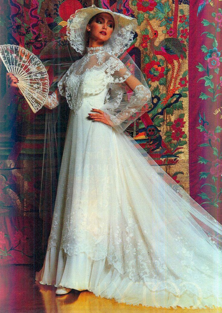 234 best 1980s Vintage Bridal images on Pinterest 1980s Ivory