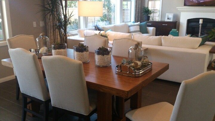 Living room dining room combo for the home pinterest - Dining room and living room combined ...