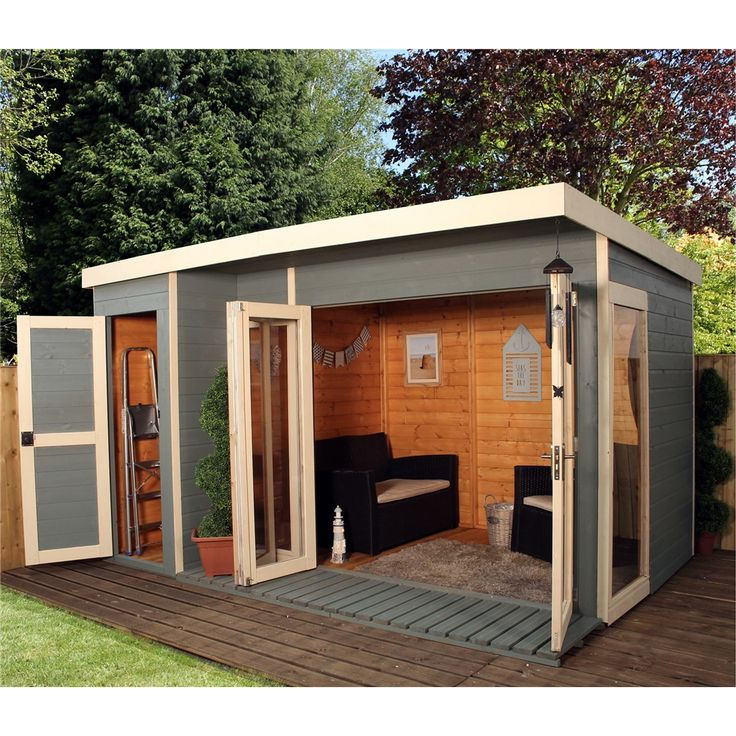 cheap affordable wooden sheds, 12ft x 8ft contemporary gardenroom large combi, free delivery