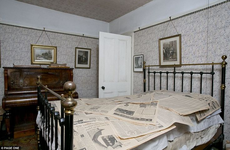 After Mr Straw senior's death, the piano was moved into Mrs Straw's bedroom, where it remained