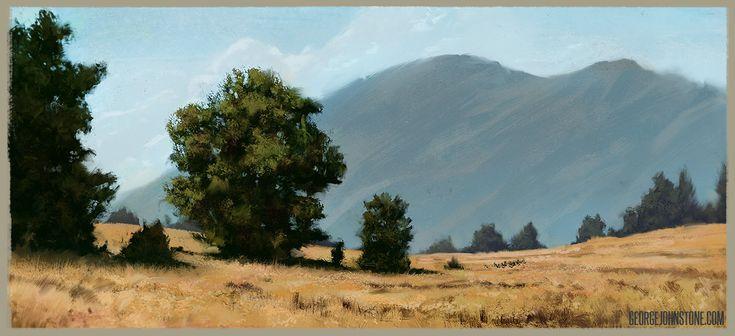 Landscape Study, George Johnstone on ArtStation at https://www.artstation.com/artwork/GvyxQ